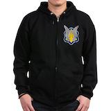 17th cavalry Zip Hoodie (dark)