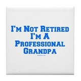 Professional Grandpa Tile Coaster