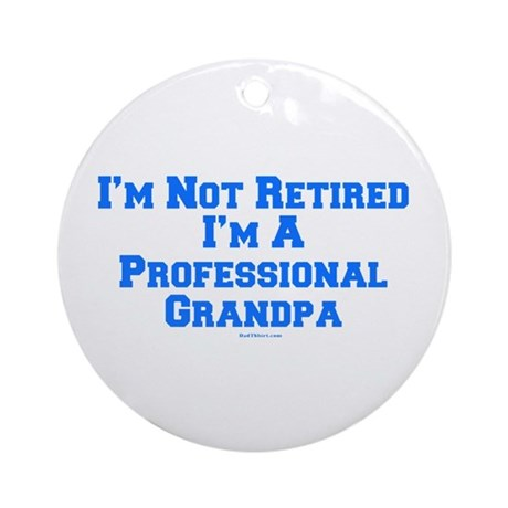 Professional Grandpa Ornament (Round)