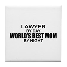 World's Best Mom - LAWYER Tile Coaster