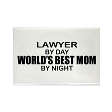 World's Best Mom - LAWYER Rectangle Magnet