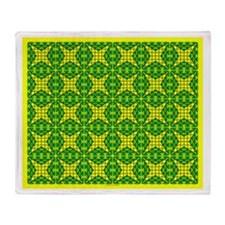 Eclectic Flower 116 Throw Blanket