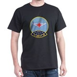 73d Airlift Squadron Black T-Shirt