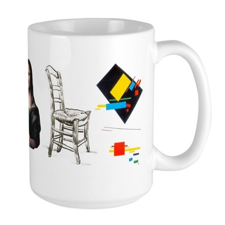 &quot;Evolution of Art&quot; Large Mug
