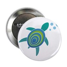 "Ocean Doctor Sea Turtle 2.25"" Button (100 pac"