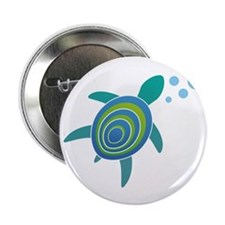 "Ocean Doctor Sea Turtle 2.25"" Button"