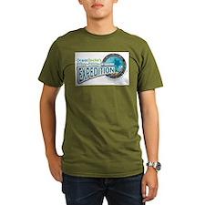 50-States Expedition Organic Men's T-Shirt (dark)