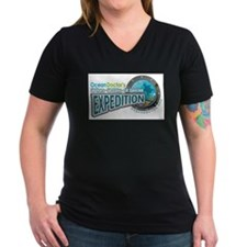 50-States Expedition Women's V-Neck Dark T-Shirt