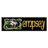 Dempsey Celtic Dragon Bumper Sticker
