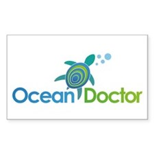 Ocean Doctor Logo Sticker (Rectangle)
