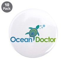 "Ocean Doctor Logo 3.5"" Button (10 pack)"