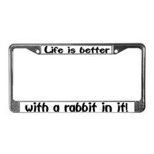 """Rabbit"" License Plate Frame"