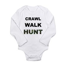Crawl Walk Hunt Long Sleeve Infant Bodysuit