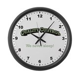 We never sleep! Large Wall Clock