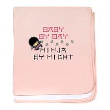 Pink Baby Ninja baby blanket
