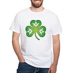 Irish Mason Clover White T-Shirt