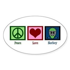 Peace Love Hockey Decal
