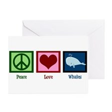 Peace Love Whales Greeting Cards (Pk of 20)