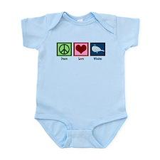 Peace Love Whales Infant Bodysuit