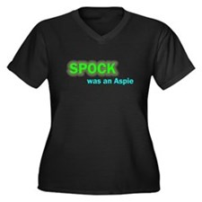 Spock was an Aspie Women's Plus Size V-Neck Dark T