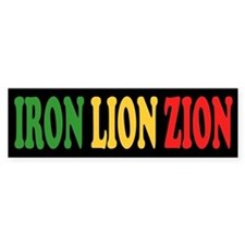 Iron Lion Zion Bumper Bumper Sticker