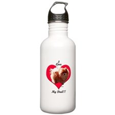 Pomeranian Father's Day Water Bottle