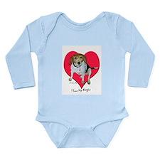 Daisy the Beagle Long Sleeve Infant Bodysuit