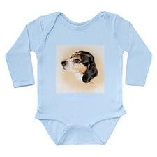 Pixley the Beagle Long Sleeve Infant Bodysuit