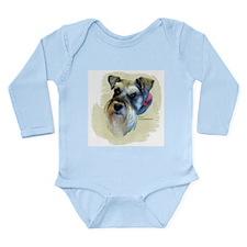 Billi the Schnauzer Long Sleeve Infant Bodysuit