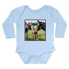 Miniature Donkey Family Long Sleeve Infant Bodysui