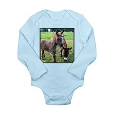 Baby Mini Donkey & Mom Long Sleeve Infant Bodysuit