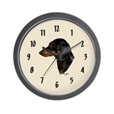 Smooth Dachshund Wall Clock