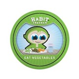 """Eat Vegetables"" 3.5"" Button (100 p"