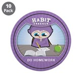"""Do Homework"" 3.5"" Button (10 pack)"