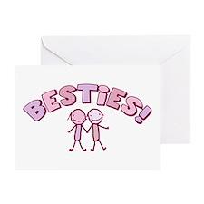 Besties Greeting Card
