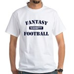 Varsity Fantasy Football White T-Shirt