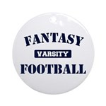 Varsity Fantasy Football Ornament (Round)