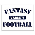Varsity Fantasy Football Small Poster
