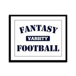 Varsity Fantasy Football Framed Panel Print