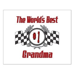 Racing Grandma Small Poster