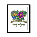 Beautiful Mother-in-law Framed Panel Print