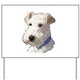 Wire Fox Terrier Yard Sign