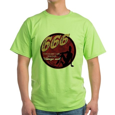 666 Devilish Sign Female Green T-Shirt