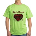 World's Best Snuggler Green T-Shirt