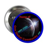 "One Global Community .com 2.25"" Button (100 pack)"