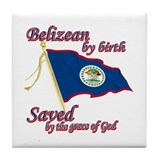 Belizean by birth Tile Coaster