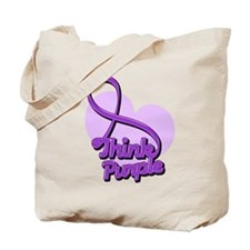 Fibromyalgia Think Purple Tote Bag