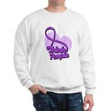 Fibromyalgia Think Purple Sweatshirt