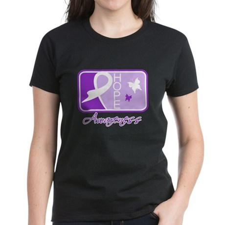 Fibromyalgia Hope Tile Women's Dark T-Shirt