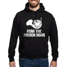 Funny Horn Music Humor Hoodie (dark)